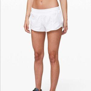 white lululemon shorts